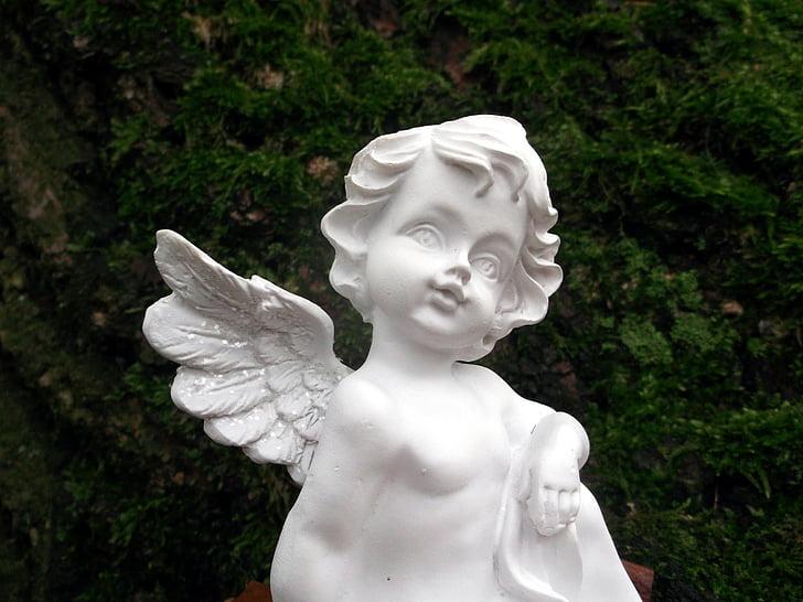 angel, faith, cemetery, hope, figure, sculpture, statue