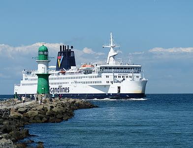 Warnemünde, Rostock, Mecklenburg-Vorpommern, turism, hamn, norra Tyskland, havet