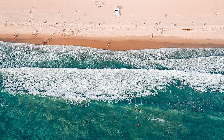 ทะเล, โอเชี่ยน, น้ำ, คลื่น, ธรรมชาติ, ฤดูร้อน, ชายหาด