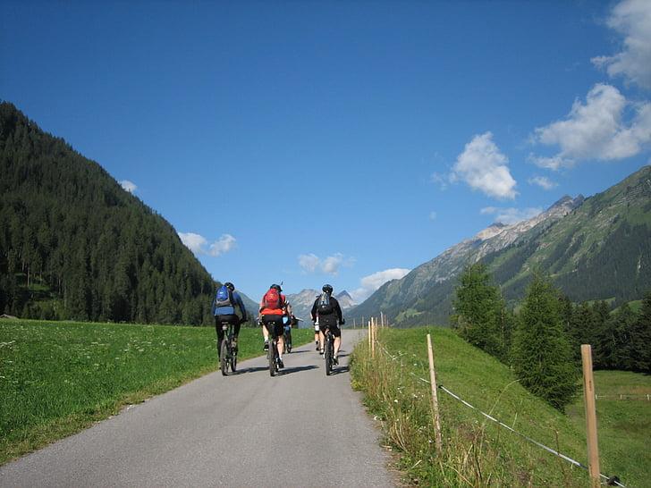 Riteņbraukšana, velosipēds, prom, TRANSALP, Sports, velosipēdu, ārpus telpām