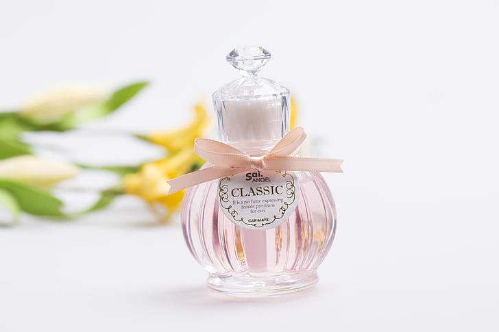 perfume, bottle, glass bottles