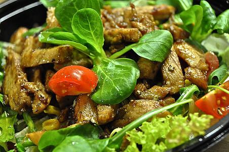 샐러드, 건강 한, 먹으십시오, 음식, 날 음식, 샐러드 플레이트, 양고기의 상 추