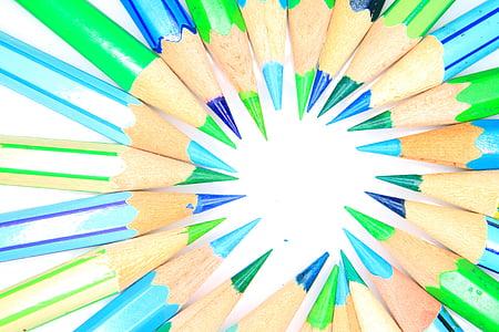 color, llapis de color, llapis, llapis de colors, l'educació, dibuix, l'escola
