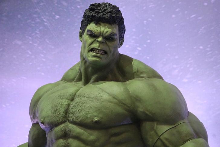 Hulk, Marvel, superhelt, figur, en, strøm, sterkt