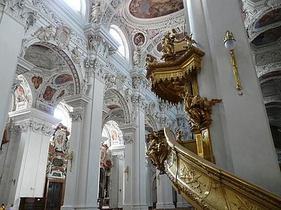 Dom, púlpit, St stephan, Passau, barroc, Bisbe Església, l'església