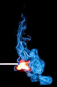 overeenkomen met, stokken, rook, Ignite, brand, lichter, ontsteking