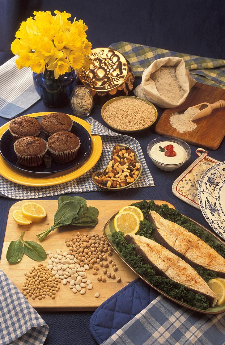 prezentāciju satura, pārtikas produktus, kas bagāti ar magnija, kliju smalkmaizītes, ķirbju sēklas, mieži, griķu milti, vaniļas jogurts