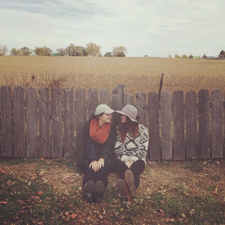 field, girls, friends, nature, happy, people, female