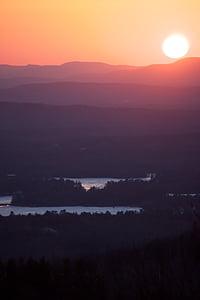 Dawn, bergen, soluppgång, solnedgång, Twilight, naturen, Scenics