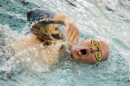 swimming, competition, race, pool, military, warrior games, water