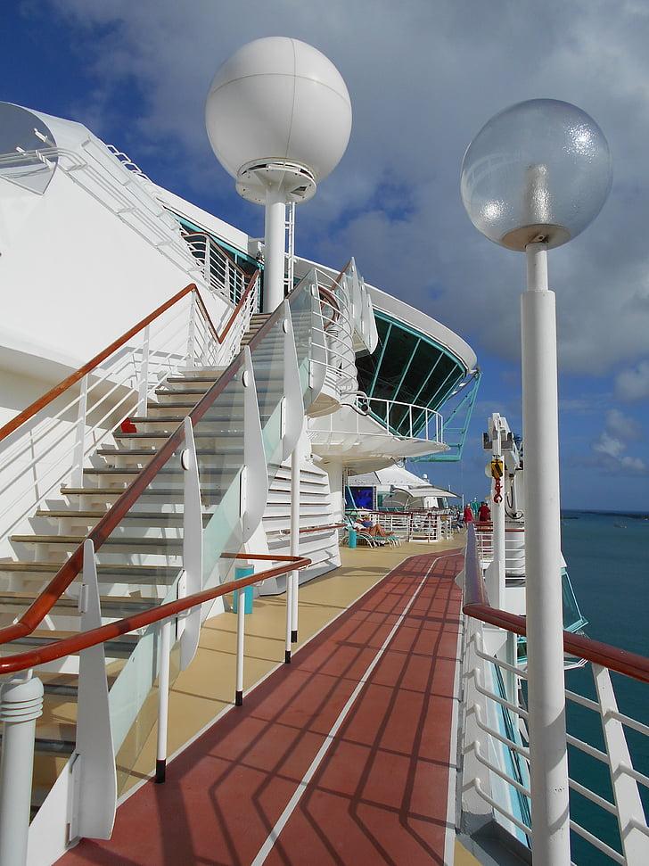 däck, fartyg, resor, kryssning, turism, kryssningsfartyg, kryssning semester