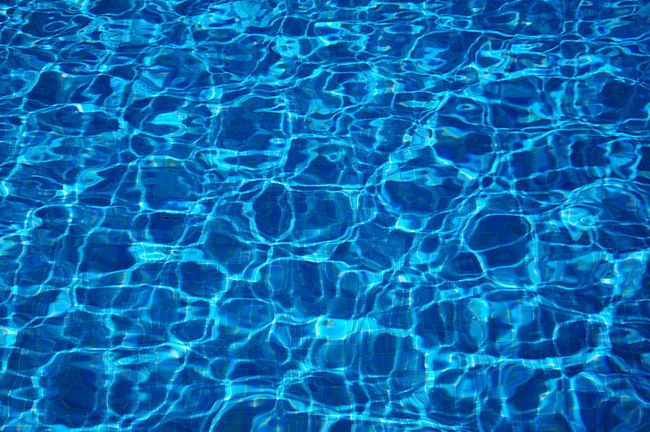 vandens, mėlyna, Atspindžiai, plaukimo baseinas lauke, fonai, skystis, Gamta