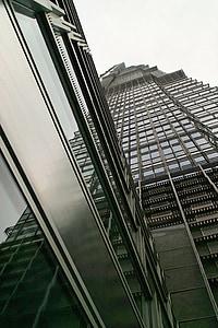 fassaad, klaas, kivi, kaasaegne, arhitektuur, hoone, peegeldamine