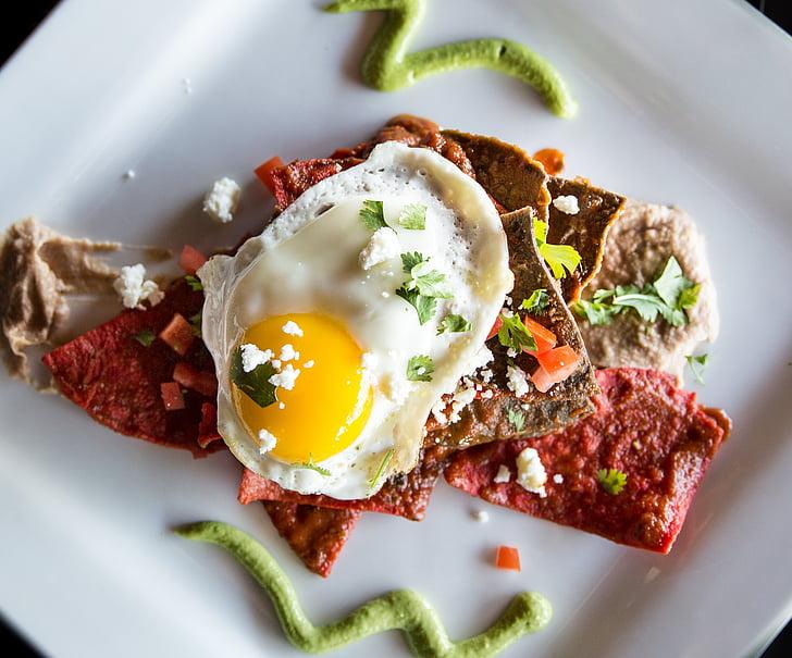 Restaurant, voedsel, gastronomische, ei, gezonde, dieet, plaat