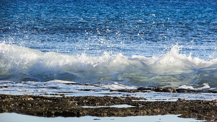 Free slika: more, val, pjena, sprej, kapi, plava, plaža   Hippopx