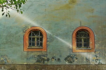 Architektura, budynek, fasada, Niemcy, grunge, Historycznie, Strona główna