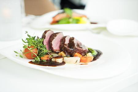 เนื้อวัว, อาหาร, อร่อย, อาหารค่ำ, จาน, epicure, อาหาร