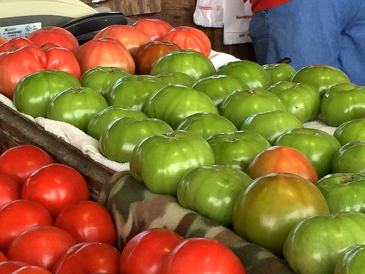farmers market, tomatoes, garden, farmer, stand, market, food