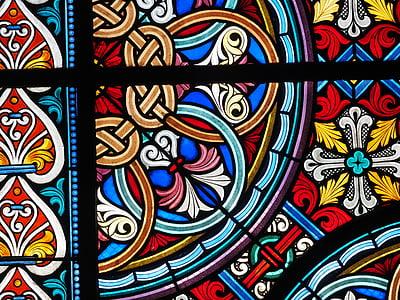 vidrieres, finestra, colors, color, l'església, finestra de vidre, vidre de la finestra