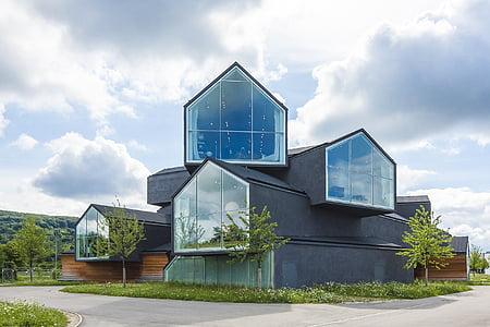 Architektura, Muzeum, Vitra, moderní architektura, budova, sklo, moderní