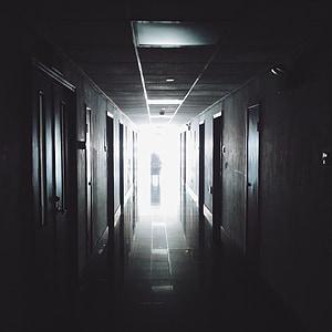 hodnik, bolnišnice, medicinske, delo, urad, notranjost, koridor