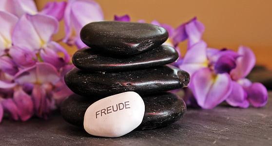 Balance, méditation, pierres, cailloux, Zen, détente, en couches