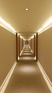 Hotel, korytarz, Dywan, pusty