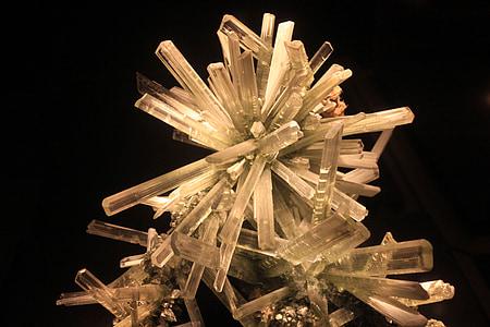 kips, seleniit, mineraal, Rock, kivi, kristallid
