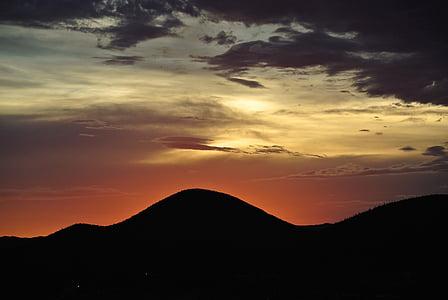 일몰, 산, 스카이, abendstimmung, 분위기, 황혼, 황혼