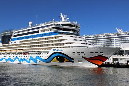 skipet, cruiseskip, Cruise, hav, liner, ferie, Voyage
