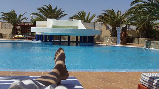 Fuerteventura, Kanarische Inseln, Sommer, Pool, Schwimmbad, Resort, Tourismus