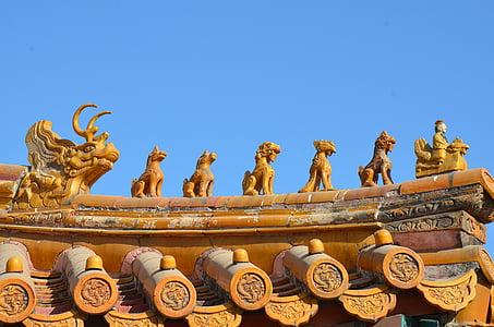 Xina, Pekin, ciutat prohibida de Pequín, arquitectura, Pequín, sostre, ciutat prohibida