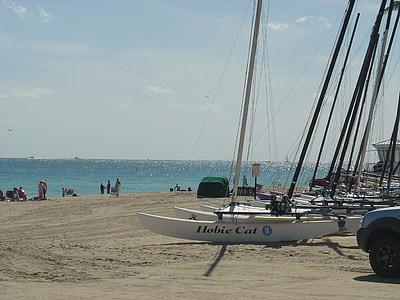 fort, Lauderdale, platja, Florida, Atlàntic, oceà, sorra