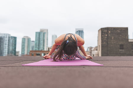 persones, dona, Ioga, meditació, gimnàs, salut, arquitectura