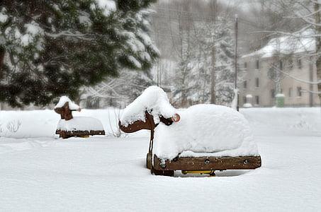 snow sheep, sheep, ground game, winter, snow