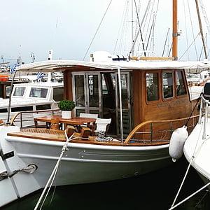 Kreta, Holiday, havet, resor, hamn, fartyg, Boot