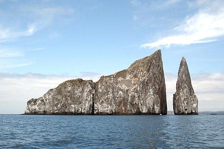 îlot, du Pacifique, océan, océan Pacifique, paysage, nature