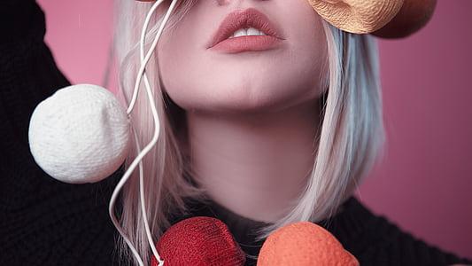 Tyttö, malli, vaaleanpunainen, muoti, muotokuva, arvoitus, Mystic