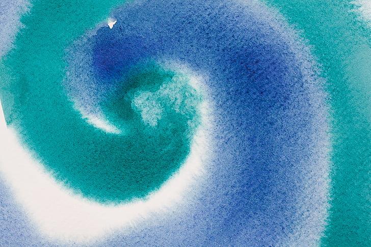 akvarell, akvarell, maling, bakgrunn, farge, vått i vått, kjøre