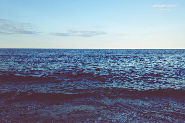 ocean, waves, daytime, nature, water, Sea, over horizon