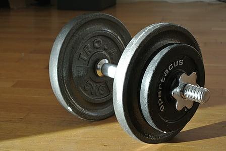 hantele, svars, apmācības, pilda, Sports, stiprums, veselīgs dzīvesveids