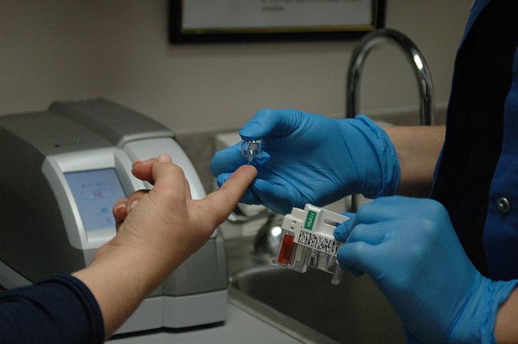 y tá, bệnh tiểu đường, bệnh tiểu đường, thử nghiệm, A1c