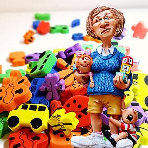 baby-sitter, children educator, toys, children's room, nanny, kindergarten teacher, building blocks