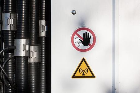 원격 로그인 돛대, 라디오 돛대, 통신, 케이블, warnschild, 방사선, 안테나
