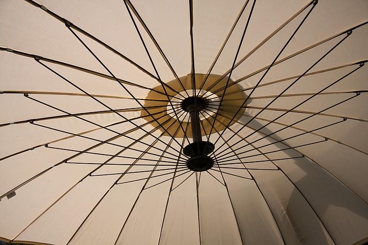 Parasol, pantalla, sol, l'estiu, arbre d'ombra, llum del sol, s'estenia