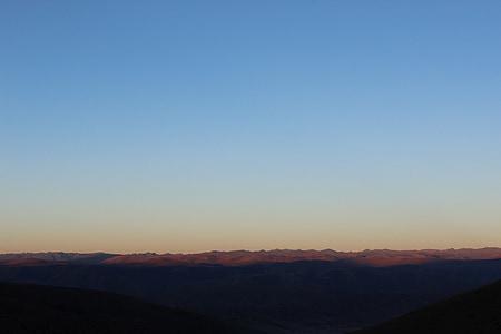 altiplà, en la matinada, muntanyes, vistes, hora de sortida, panoràmica, Notícies de matí
