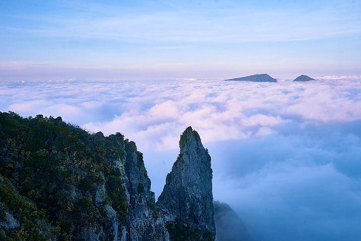 คลิฟ, เมฆ, ตามฤดูกาล, ภูเขา, ธรรมชาติ, กิจกรรมกลางแจ้ง, ภูเขาหิน