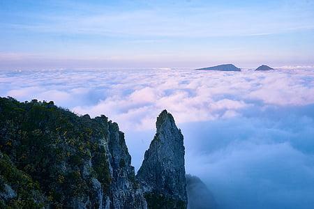 penya-segat, núvols, llum natural, muntanya, natura, a l'exterior, muntanya rocosa