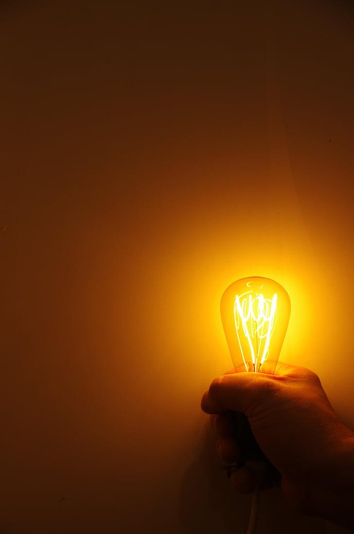 light, lamp, lighting, hell, lights, retro, light bulb