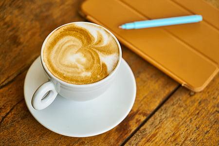 cafè, cafè amb llet, Caputxí, fotos, aliments, Copa, cafè exprés